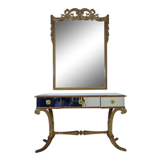 Grosfeld House Vanity and Mirror, circa 1940s - Image 1 of 9