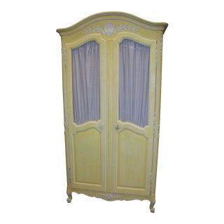 Vintage Shabby Chic Clothing Armoire by Kindel