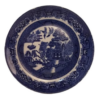 Allertons Blue Willow Plate