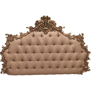 Hollywood Regency Biscuit Tufted King Headboard