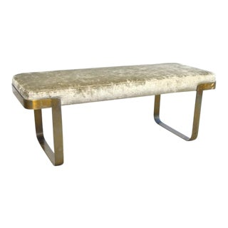 Pace Bench in Brass