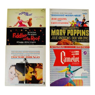Decorative Motion Picture Soundtrack LP Covers - Set of 6