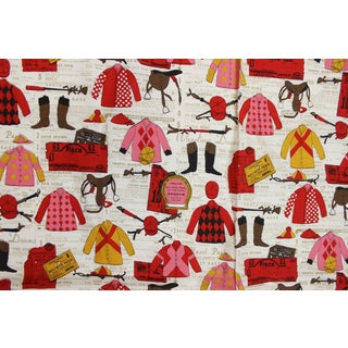 Vintage Red & Pink 'Jockey Silks' Fabric - 2.4 Yards