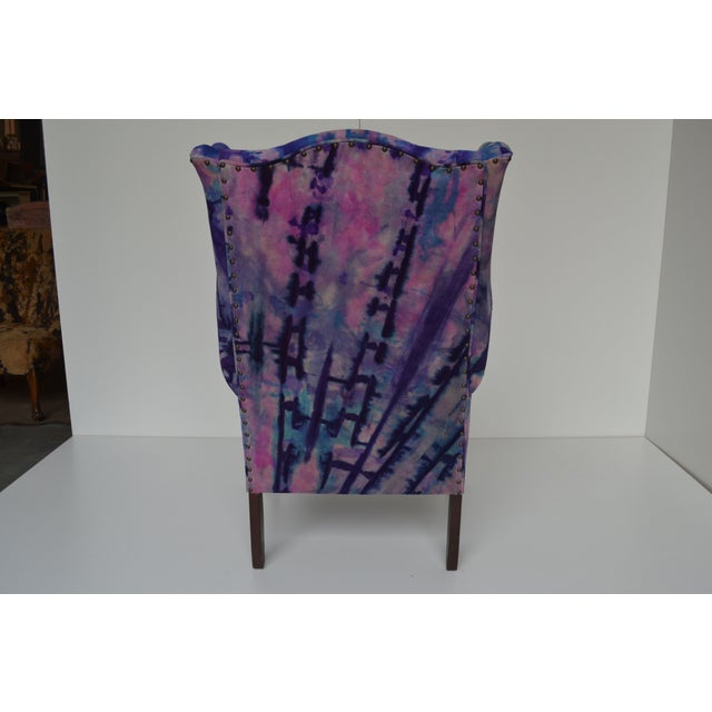 Image of Hand Painted Leather Chair