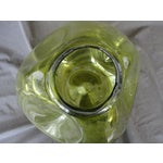 Image of Vintage Hand Blown Pinched Art Glass Vase
