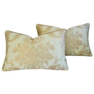 Designer Italian Fortuny Boucher Pillows - Pair