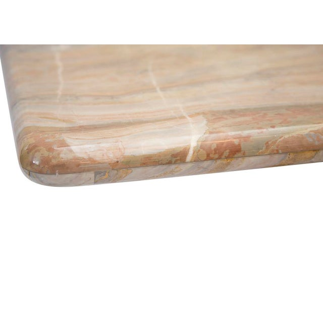 Variegated Marble Console Table - Image 2 of 10