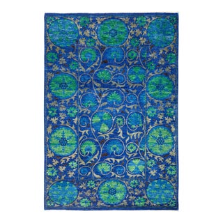 """Suzani Hand Knotted Area Rug - 5' 4"""" X 7' 8"""""""