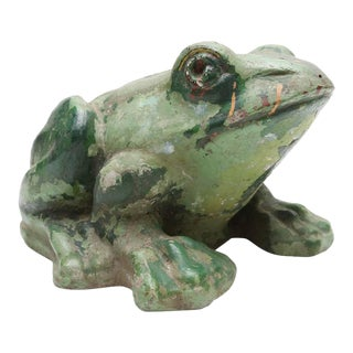 Stone Frog Sculpture
