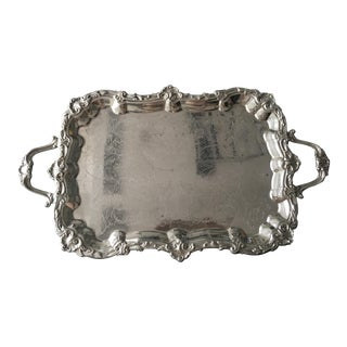 Silver Plate Victorian Footed Buttler's Tray