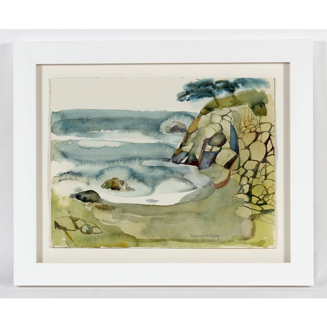 """Coastal Rocks, California"" Watercolor - Image 2 of 3"