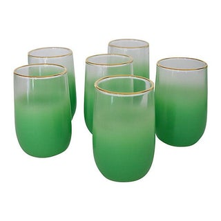 1960s Green Blendo Tumblers - Set of 6
