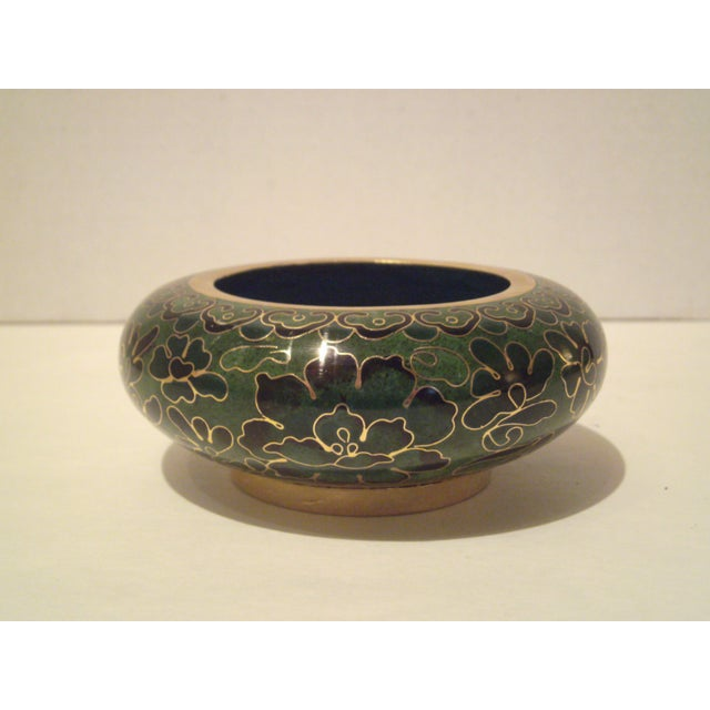 Emerald Green Cloisonne Footed Bowl - Image 8 of 8