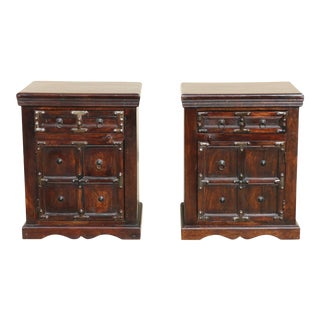 Indonesian Style Nightstands - a Pair