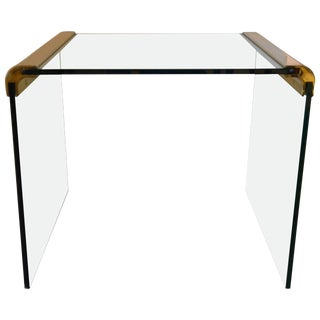 Pace Brass and Glass End / Side Table