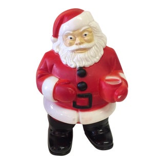 "Vintage Blow Mold ""Mini"" Santa with light"