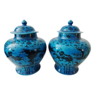 Yuan-Style Hunters Ginger Jars - A Pair
