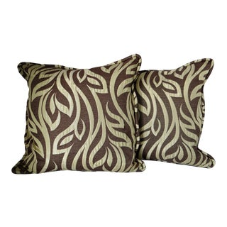 Contemporary Leaf Pillows - A Pair