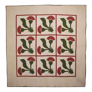 Cockscomb Applique Quilt: Circa 1870; Pennsylvania