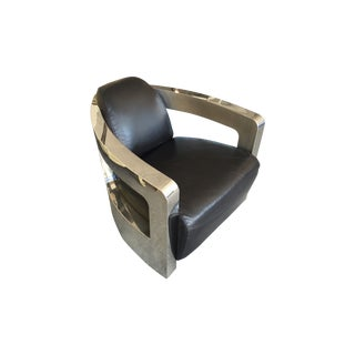 Timothy Oulton Sinclair Club Chair With Metal Arms