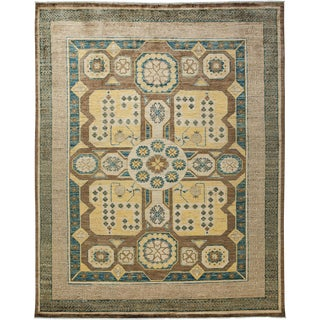 New Hand-Knotted Khotan Rug - 8′2″ × 10′2″