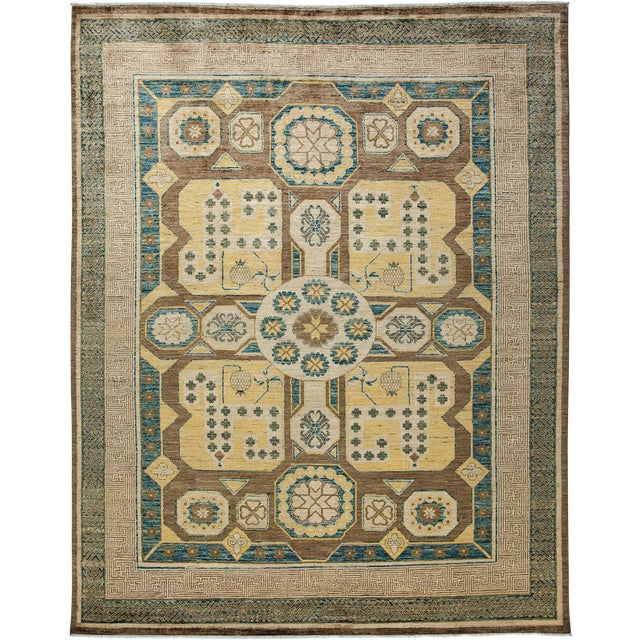 New Hand-Knotted Khotan Rug - 8′2″ × 10′2″ - Image 1 of 3