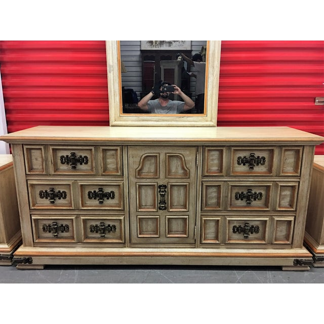 Vintage Stanley Solid Wood Dresser with Mirror - Image 10 of 10
