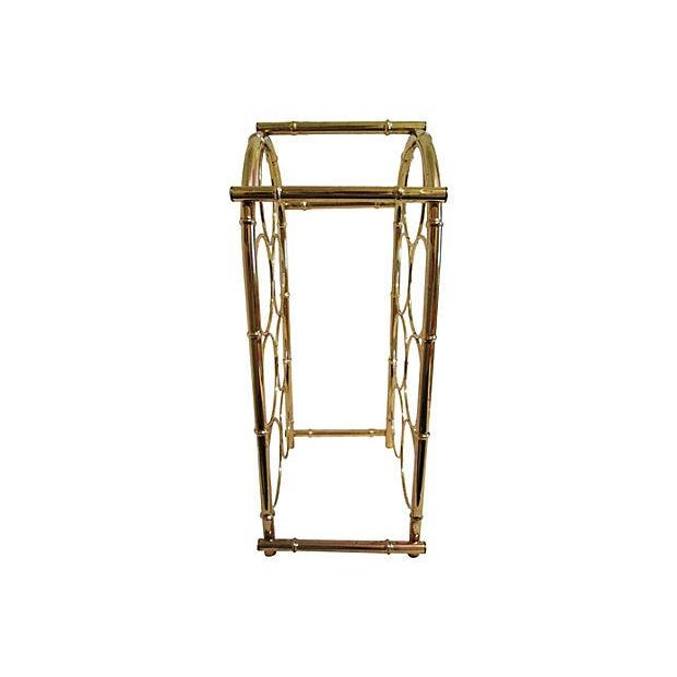 Brass-Plated Dome Bamboo Wine Rack - Image 3 of 6