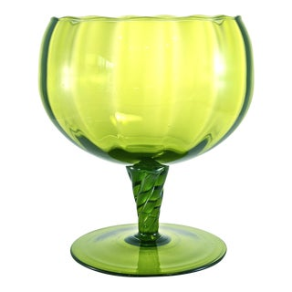 Green Empoli Pedestal Bowl