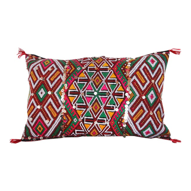 Handcrafted Moroccan Kilim Pillow IV - Image 1 of 6