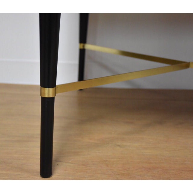 Black and Brass Dining Table by Paul McCobb - Image 8 of 10