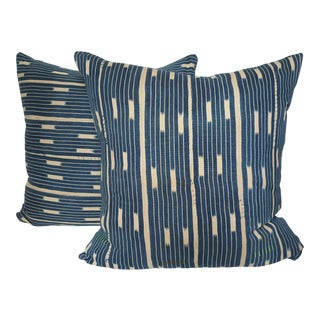 African Mali Indigo Pillows - A Pair