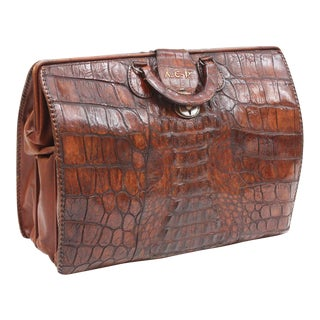 Vintage Alligator Briefcase