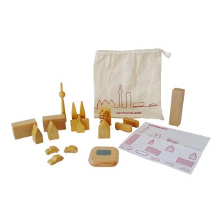 German Architectural Wood Blocks and Bag Set