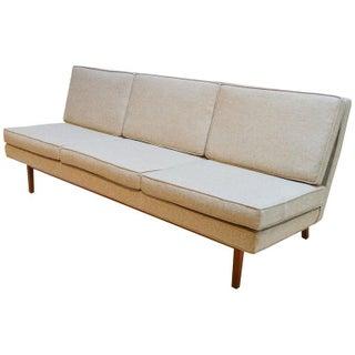 Jack Cartwright Mid-Century Modern Upholstered & Walnut Sofa