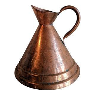 Vintage Handmade Copper Pitcher Vase