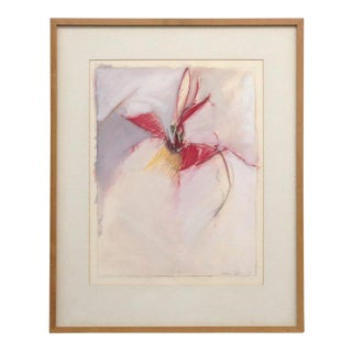 Laurie Fields Abstract Floral Painting