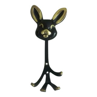 Bunny Wall Hook by Walter Bosse for Hertha Bailer, 1950s