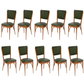 Italian Modernist Dining Chairs, Set of 10