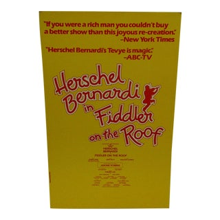 """""""Fiddler on the Roof"""" Vintage Theatre Poster"""