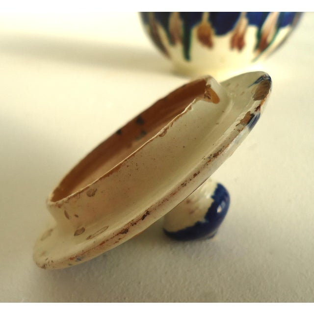 Rustic Folk Pottery Sugar Jar - Image 6 of 6