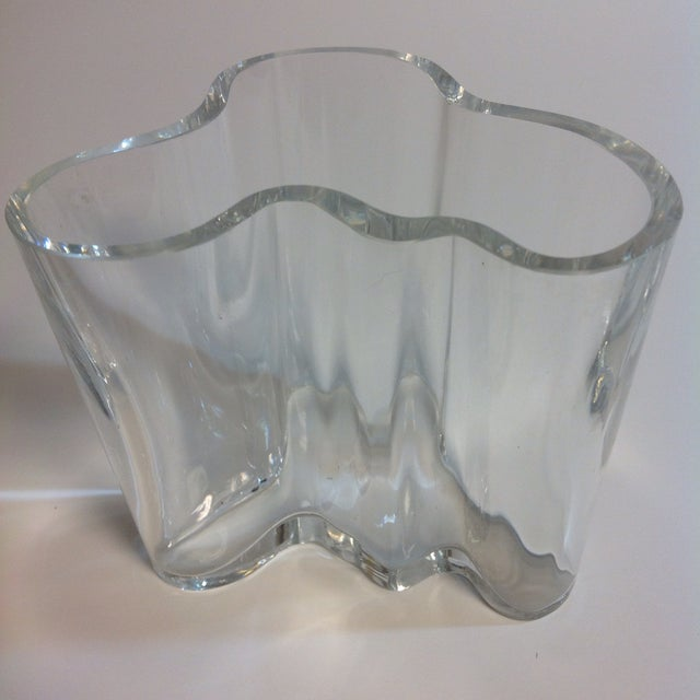Signed Alvar Aalto Crystal Savoy Vase - Image 2 of 7