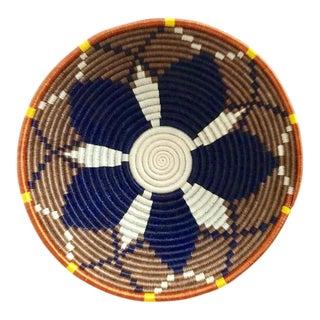 African Boho Woven Basket