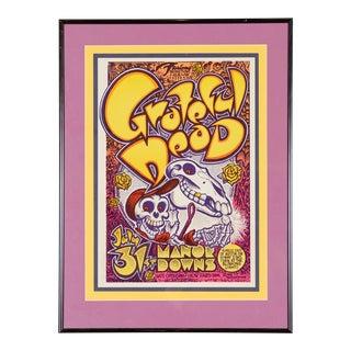 Grateful Dead Manor Down Original Vintage Concert Poster
