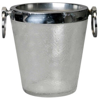 Art Deco Heavy Crystal Ice Bucket
