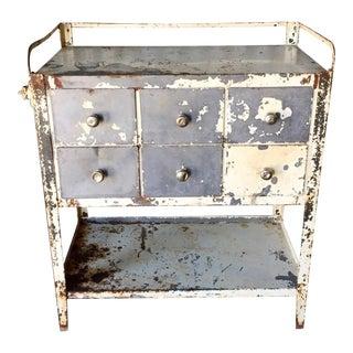Vintage Industrial Medical Cabinet
