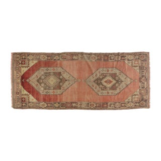 "Oushak Wool Carpet- 10'7"" x 4'3"""
