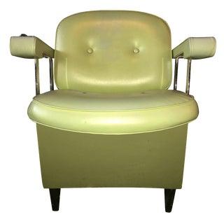 Mid-Century Salon Chair in Avocado