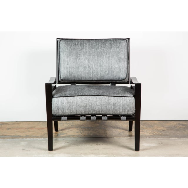 Paul Marra Low Lounge Chair in Black Lacquer - Image 6 of 9