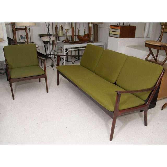 Ole Wanscher Rosewood Sofa and Chair Set - Image 9 of 10